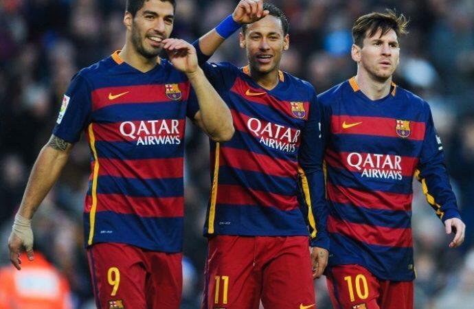 Wachezaji wa klabu ya Barcelona baada ya kuishinda Manchester United