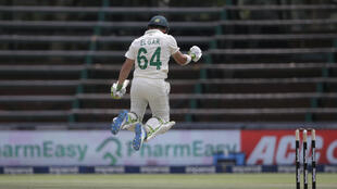 Bouncing back: Dean Elgar made a first-Test century and finished as  top scorer as South Africa swept their most recent Test series 2-0 against Sri Lanka