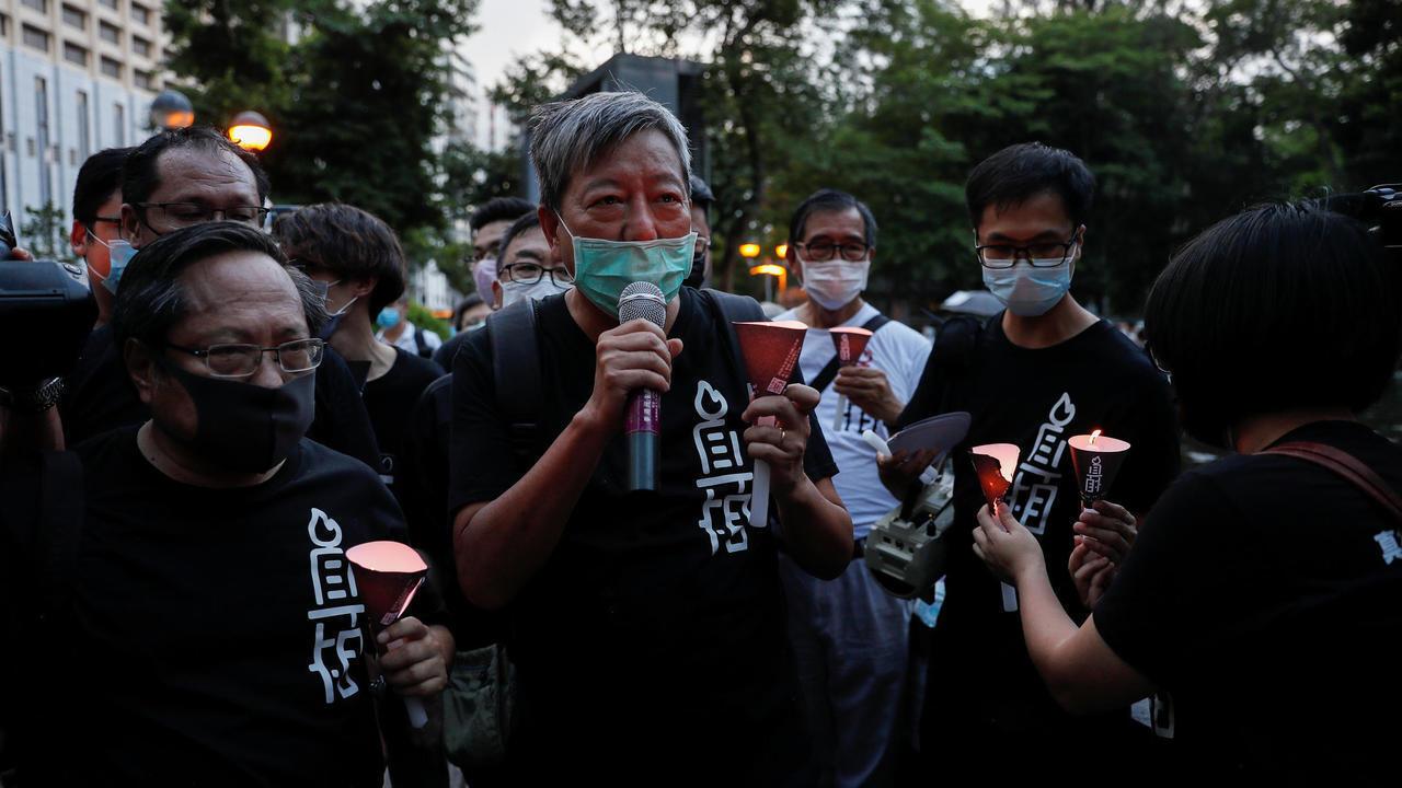 2020年香港支聯會主席李卓人等參與維園悼念六四