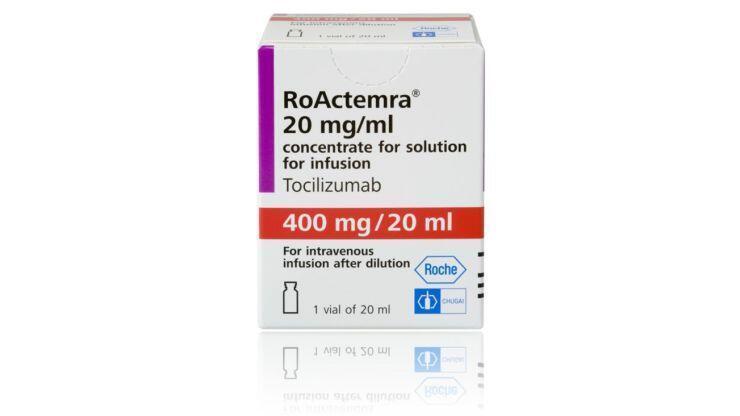 Apresentação comercial do medicamento anti-inflamatório Actemra/RoActemra (tocilizumabe).