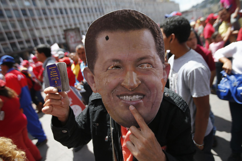Manifestação em apoio ao presidente Hugo Chávez em Caracas, no dia 27 de fevereiro de 2013.