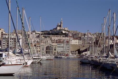 Vista del viejo puerto de Marsella