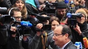 O presidente francês, François Hollande, em Bruxelas.