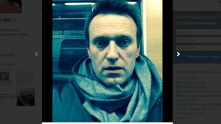 Селфи Навального в метро по дороге на Манежную площадь 30/12/2014