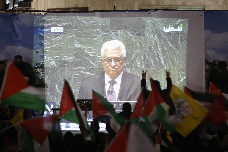 Mahmoud Abbas na Assembleia Geral da ONU, na quinta-feira 29 de novembro de 2012.