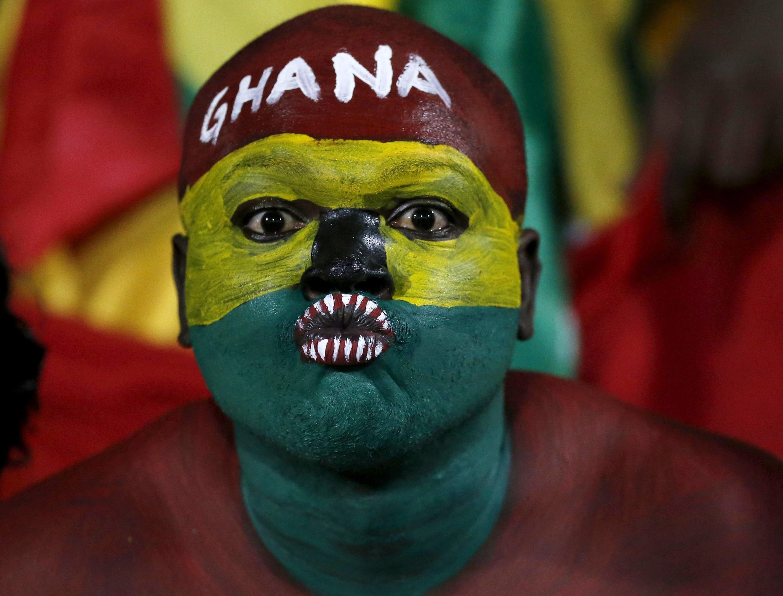 A Ghana fan, Mongomo, 27 January 2015.