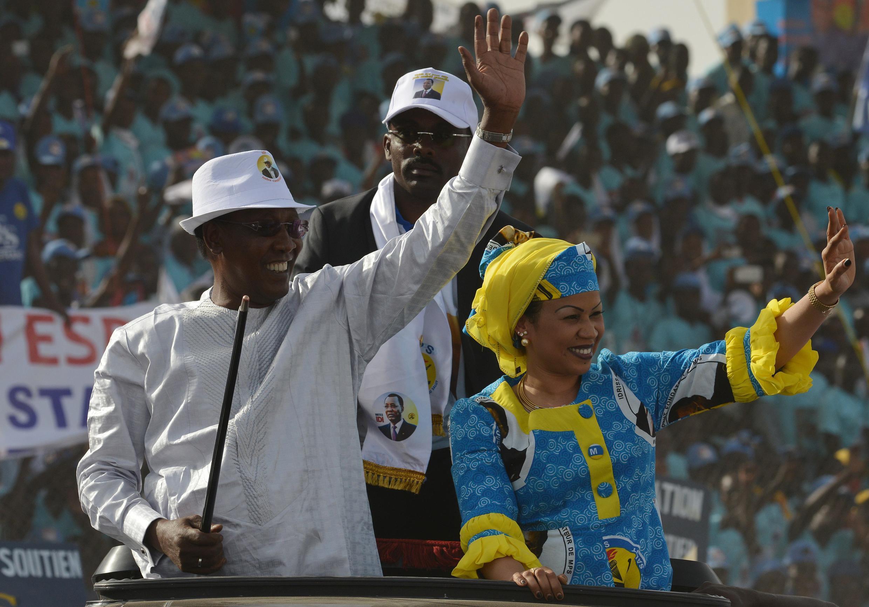 Rais wa Chad, Idriss Déby, katika moja ya mikutano yake ya kampeni