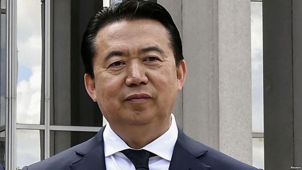前国际刑警组织主席孟宏伟在法国里昂              2018年5月8日