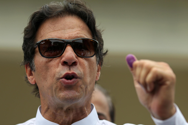 عمران خان، رهبر جنبش انصاف پاکستان - ٢۵ ژوئیه ٢٠١٨