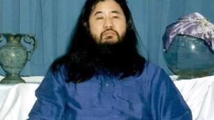 Shoko Asahara, guru da seita Aum, em imagem de 1990.