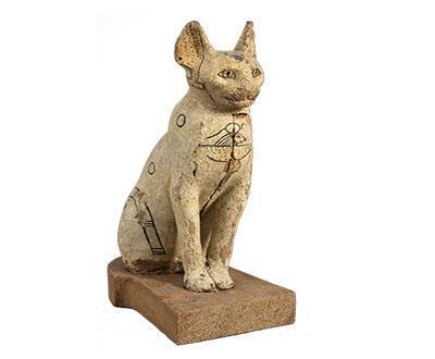Le chat, un visuel de l'exposition «Des animaux et des Pharaons» du Louvre Lens.
