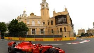 Sebastian Vettel, au volant de sa Ferrari SF71H, a dominé la 3e séance d'essais libres du GP d'Azerbaïdjan à Bakou, le 27 avril 2018
