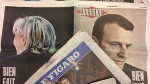 Primeiras páginas dos jornais franceses 08/05/2017