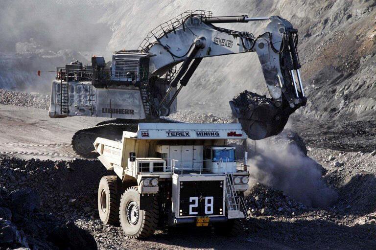 Une mine de Charbon en Mongolie.