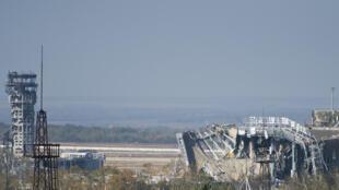 Вид на международный аэропорт «Донецк» имени Сергея Прокофьева, октябрь 2014 г.