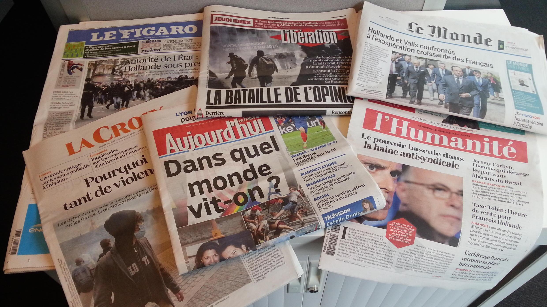 Primeiras páginas dos jornais franceses de 16 de junho de 2016