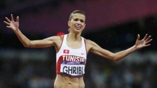 La Tunisienne Habiba Ghribi obtient la médaille d'argent du 3 000m steeple, lundi 6 août.