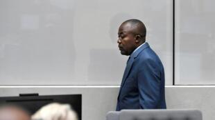 Alfred Yekatom devant le Cour pénale internationale, à La Haye, le 23 novembre 2018.