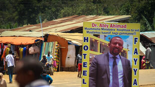 Une affiche pro-Abiy Ahmed, nouveau Premier ministre de l'Ethiopie.