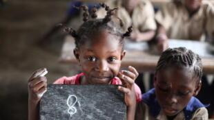 Dans une classe de primaire à Brazzaville.