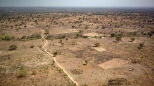 Une vue des environs de Paoua, en République centrafricaine, le 28 décembre 2017.