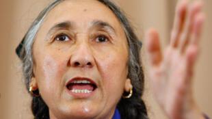 La dissidente ouïghoure en exil Rebiya Kadeer, lors d'une conférence de presse à Tokyo, le 29 juillet 2009.