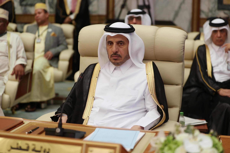 شیخ عبدالله بن ناصر آل ثانی، نخست وزیر قطر به نمایندگی این کشور در دو نشست شورای همکاری خلیج فارس و اتحادیۀ عرب در مکه شرکت کرد..