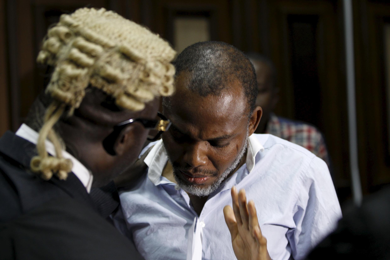 Le leader indépendantiste biafrais Nnamdi Kanu, détenu depuis octobre, est jugé au pénal devant la Haute Cour d'Abuja. Photo de Nnamdi Kanu, le 20 janvier 2016.