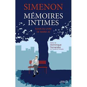 Nouvelle couverture des «Mémoires intimes», de Georges Simenon.