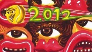 Afiche del torneo Roland Garros 2012, concebido por el artista francés Hervé Di Rosa