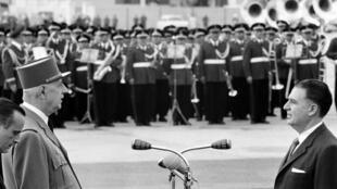 Le général de Gaulle au Pérou le 25 septembre 1964.