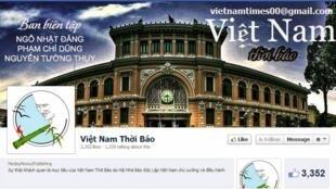 Trang facebook của tờ Việt Nam Thời báo