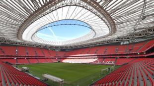 Le stade de San Mamés à Bilbao en Espagne, le 10 février 2020