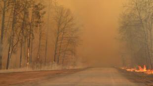 2020-04-10T182140Z_1964201085_RC2U1G9GCU4A_RTRMADP_3_UKRAINE-CHERNOBYL-FIRE