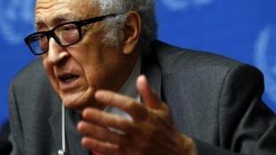 Negociador da ONU e da Liga Árabe para a Síria, Lakhdar Brahimi.