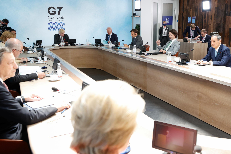 G7首腦峰會第三天聚焦氣候問題2021年6月13日英國卡比斯灣