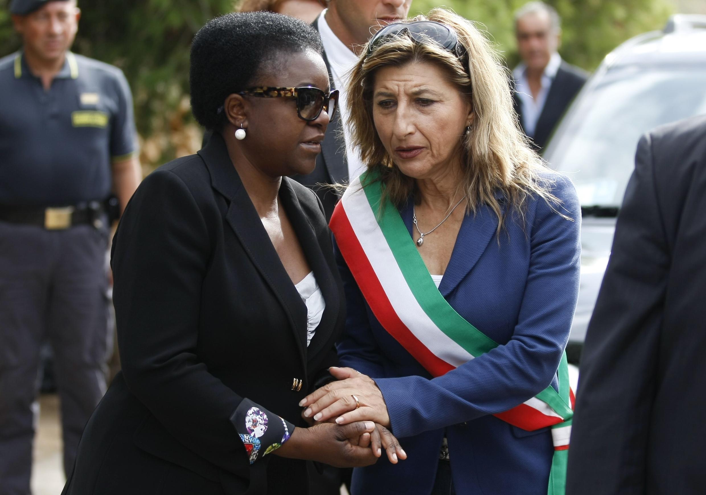 Giusi Nicolini, la maire de Lampedusa, en Italie, le6octobre2013.