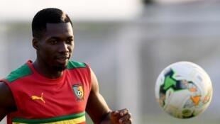 Ambroise Oyongo lors de la CAN 2017 au Gabon.