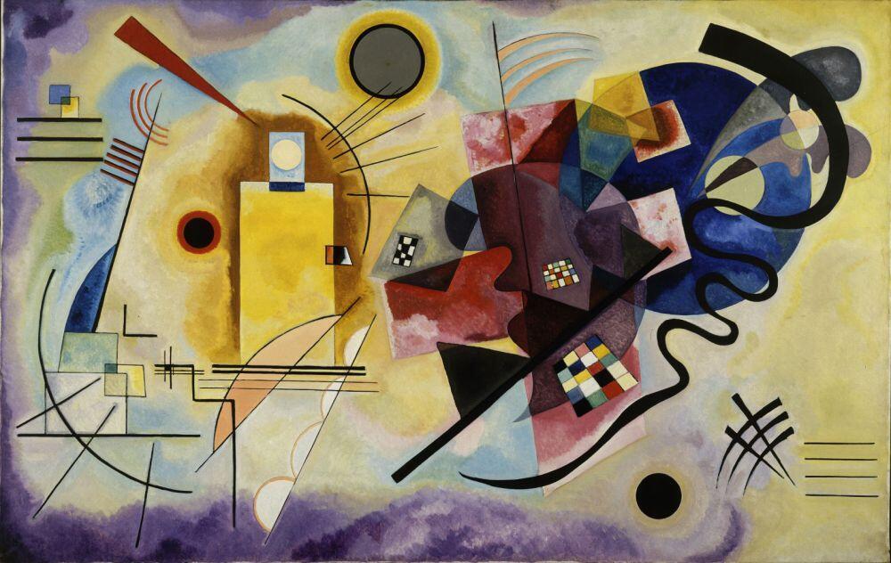 Vassily Kandinsky, «Jaune-rouge-bleu», 1925.