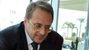 Mikhaïl Bogdanov, l'émissaire russe pour le Proche-Orient.