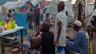 Dans un camp de déplacés de Birao, en Centrafrique, en novembre 2019.