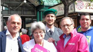 Le parti Neos, crédité de 10% des voix, fait campagne contre la fermeture des frontières aux migrants.