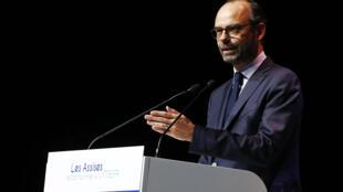 Le Premier ministre Edouard PHilippe Havre à l'ouverture des Assises de l'économie de la mer, au Havre, le 21 novembre 2017.