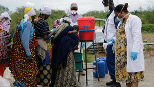 Mesures contre le coronavirus au Burundi à la frontière avec la RDC en mars 2020. (Image d'illustration)