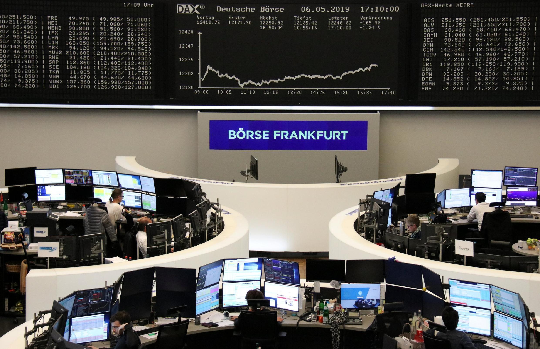 華爾街股市照片