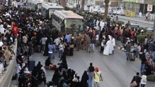 Des Ethiopiens illégaux se préparent à quitter l'Arabie saoudite, le 10 novembre 2013 (image d'illustration).