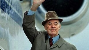 O ex-oficial da SS Erich Priebke antes de ser extraditado para a Itália nos anos 90