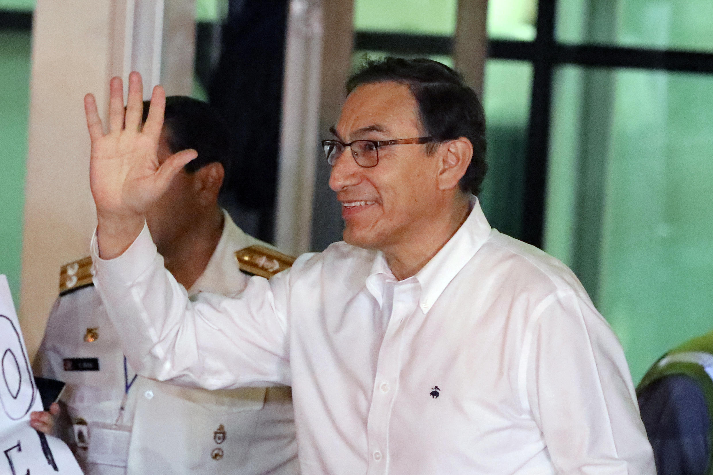 Martín Vizcarra, à son arrivée à Lima, au Pérou, le 23 mars 2018.