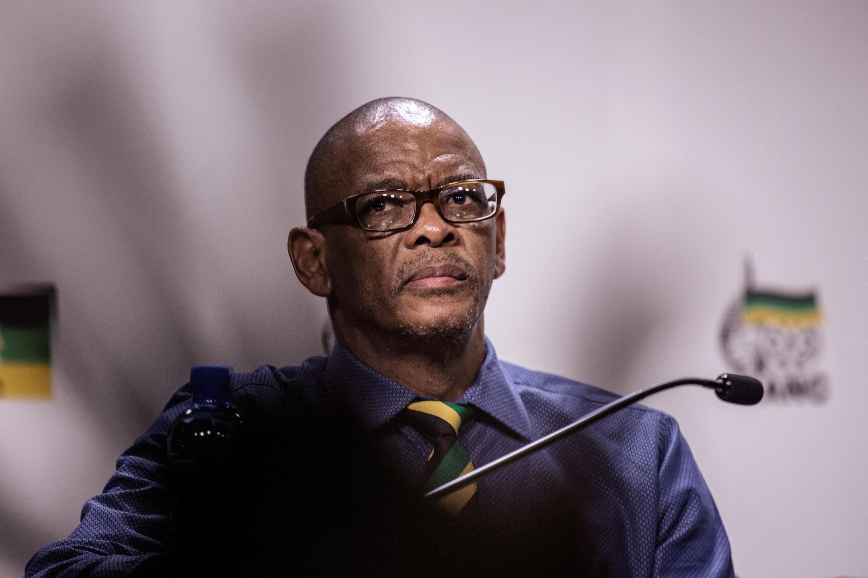 Katibu Mkuu wa chama cha ANC Ace Magashule huko Johannesburg, Februari 2018.
