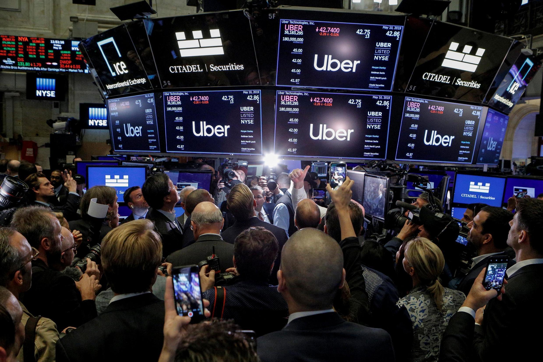 A estreia da Uber a Bolsa de Nova York era um dos eventos mais esperados do ano pelo mercado financeiro.